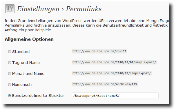 permalink struktur wordpress