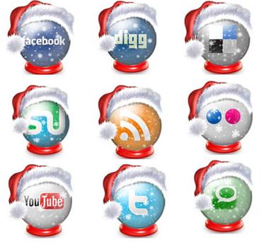 Social Media Icon Schneekugeln Christmas Weihnachten Xmas