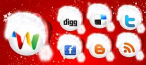 Social-Media-Icon-Set-Rote-Muetzen-Weihnachten-Christmas