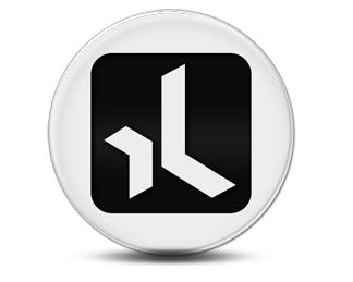 Xing Icon rund schwarz weiß ausgefüllte fläche