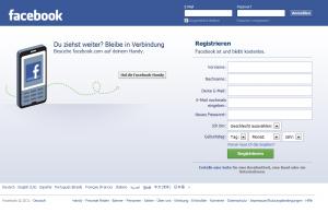 Facebook Profil anlegen