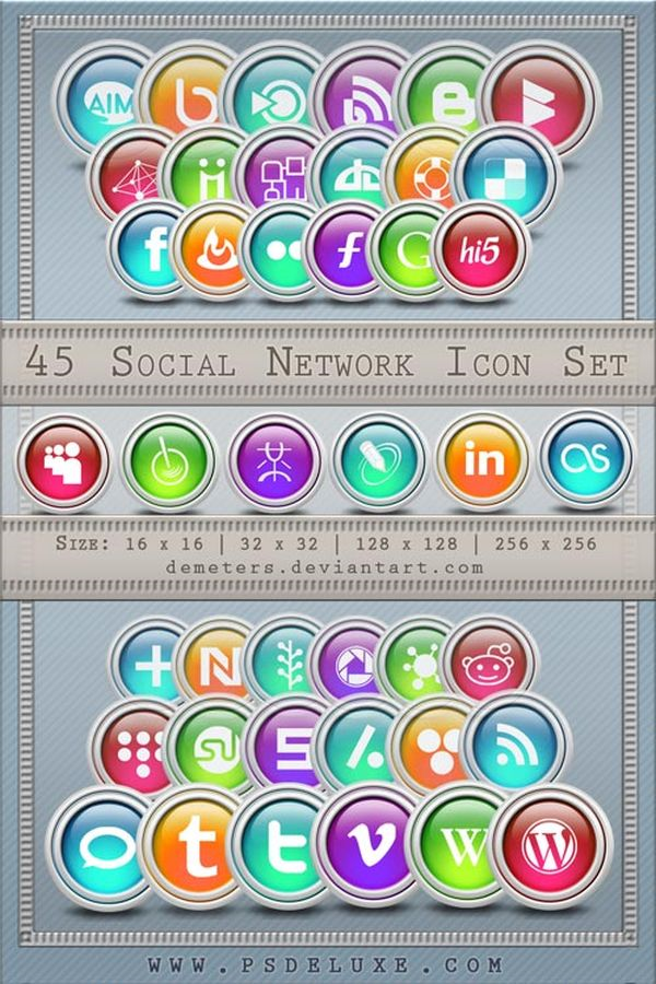 Free Ultimate Social Network Icon Pack