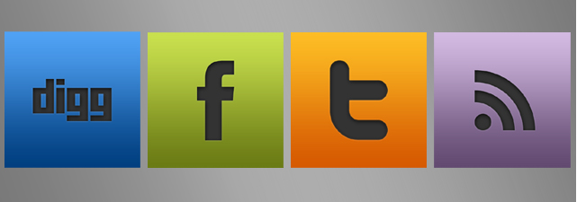 Sleek Social Icons