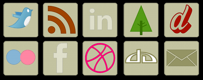 Stitched Icon Set