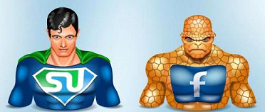 SuperHero Cartoon Style Social Icon Set