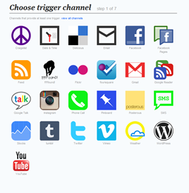ifttt choose trigger channel