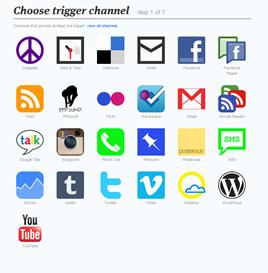 ifttt choose trigger channel