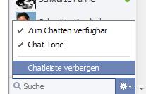 Facebook Chatleiste verbergen