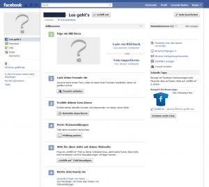 Facebook Fanpage erstellt