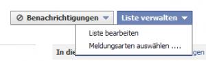 Facebook Freundesliste verwalten