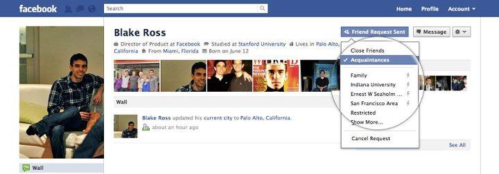 Neue Facebook Freundeslisten
