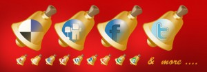 Christmas Bell Social Media Icons