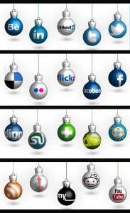 Christmas Bulb Social Media Icons