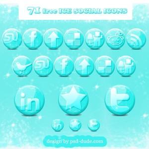 Glossy Social Media Christmas Icons