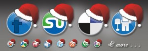 Santa Hat Social Media Icons