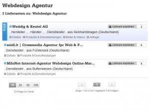 Lieferanten.de Lieferantensuche Webdesign