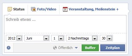 Facebook Fanpage Beitraege planen 2