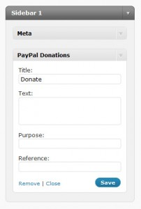 Wordpress Spenden Plugin mit Widget