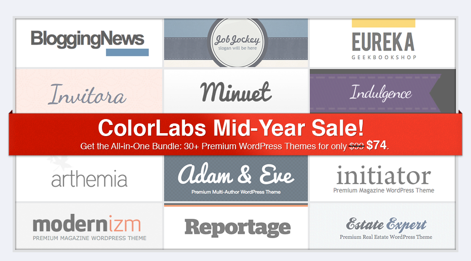 ColorLabs Wordpress Theme Bundle Aktion