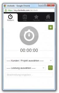 Online Zeiterfassung Clockodo - Stoppuhr