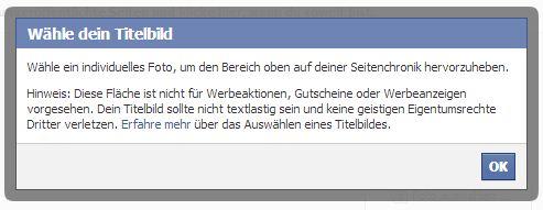 Richtlinien Facebook Fanpage Titelbild