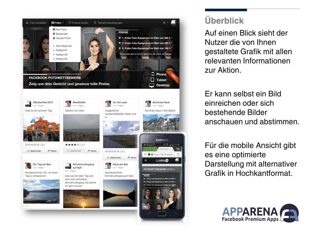 mobiler Fotowettbewerb facebook