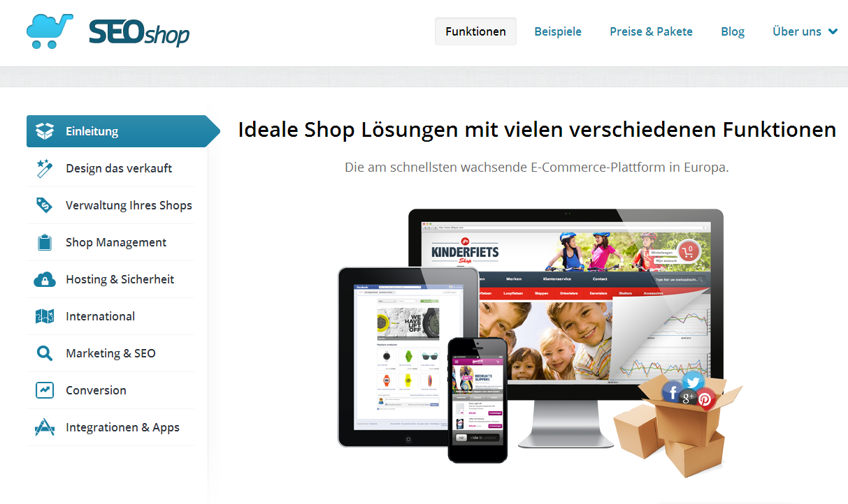 seoshop - baukasten online shop
