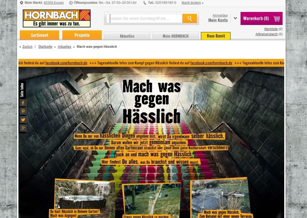 Hornbach Mach was gegen Hässlich