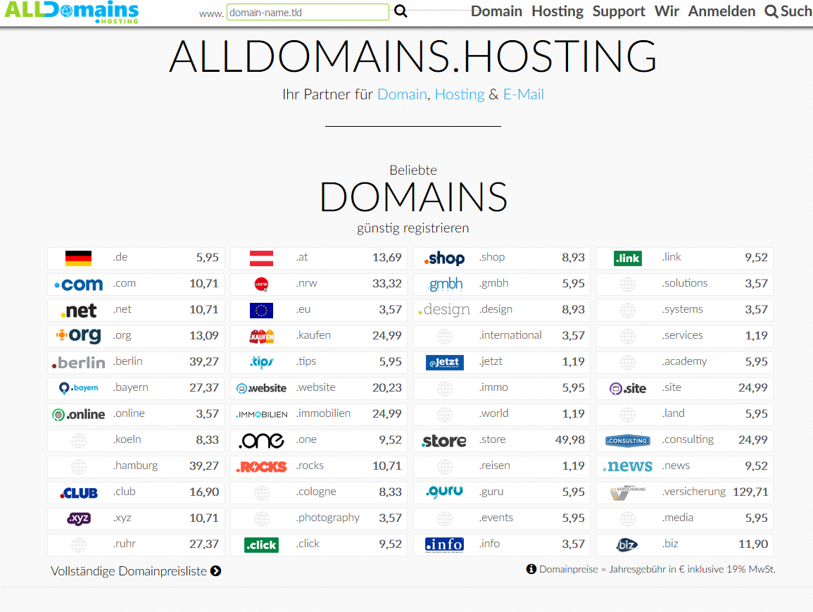 alldomains hosting