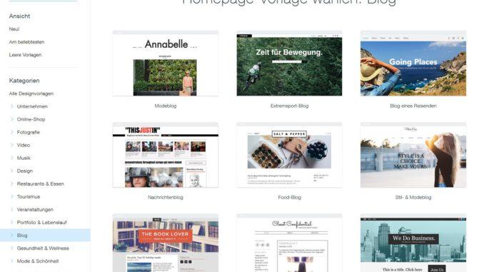Blog-Design auswählen
