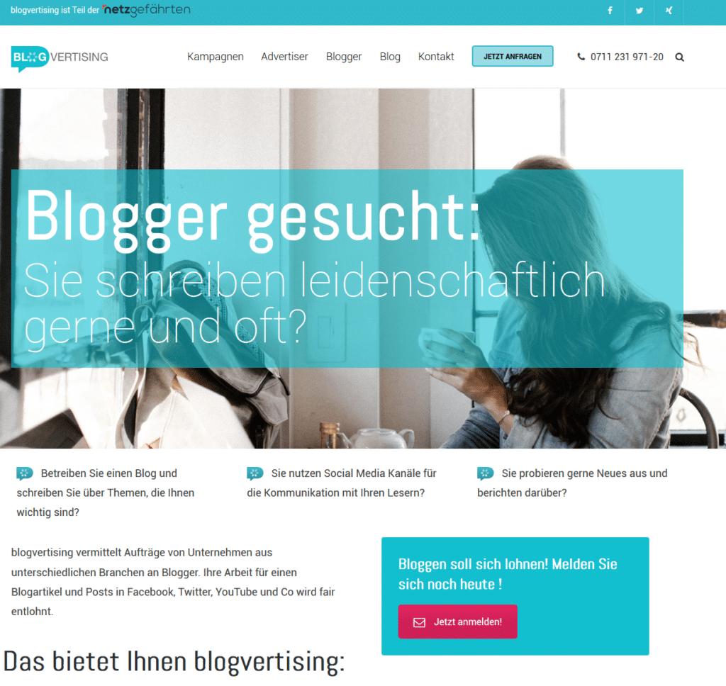 Blogger anmelden