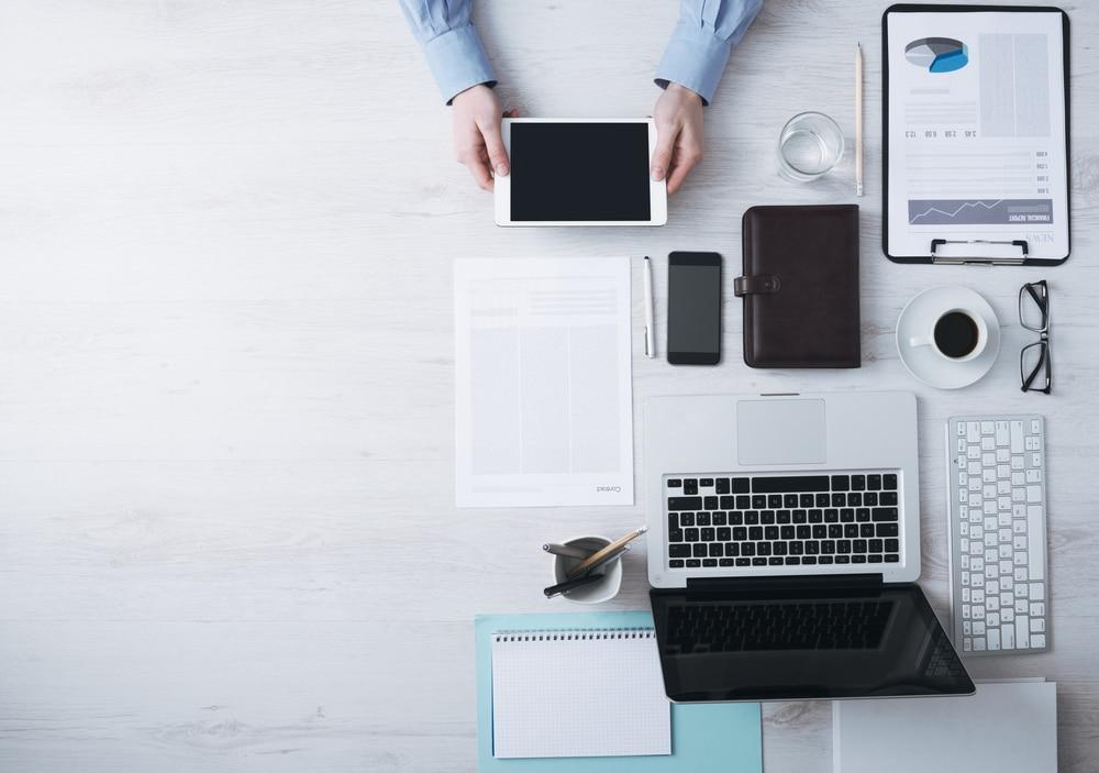 Büro - digtial und minimal